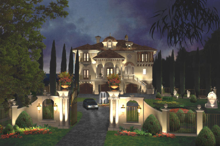 Mediterranean villa above on three levels see for Luxury mediterranean villas